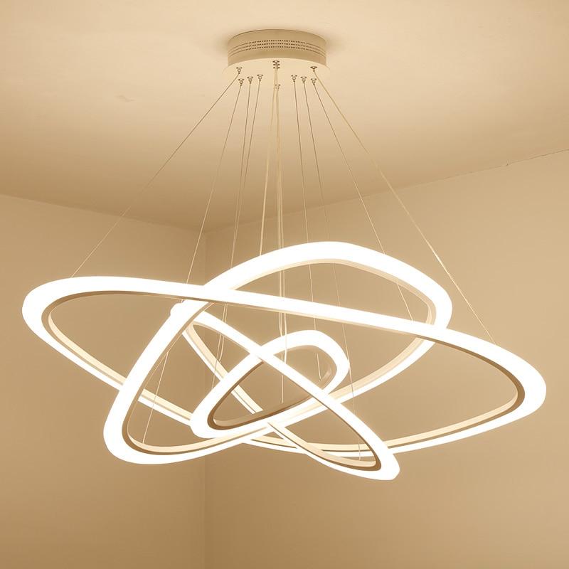 LED נברשת לופט תאורה נורדי השעיה luminaire בית דקו תאורה גופי סלון מנורות מודרני תליית אורות