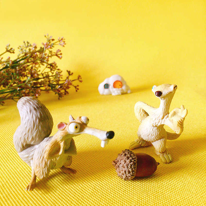squirrel/sloth/doll house/miniatures animal/cute/fairy garden gnome/moss terrarium decor/bonsai/DIY supplies/figurine/toy/model