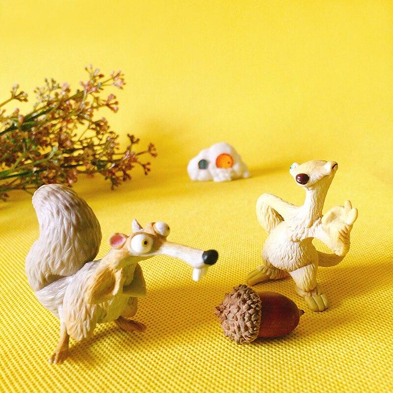 Squirrel/sloth/doll House/miniatures Animal/cute/fairy Garden Gnome/moss Terrarium Decor/bonsai/DIY Supplies/figurine/toy/model