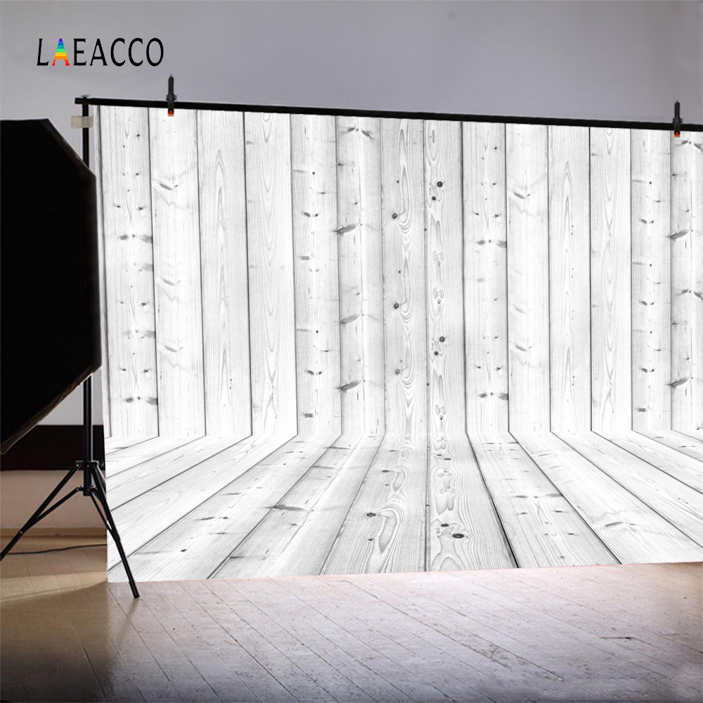 Laeacco Simple Wooden Wall Floor Photo Backgrounds Customized Photography Backdrops For Photo Studio in Background from Consumer Electronics
