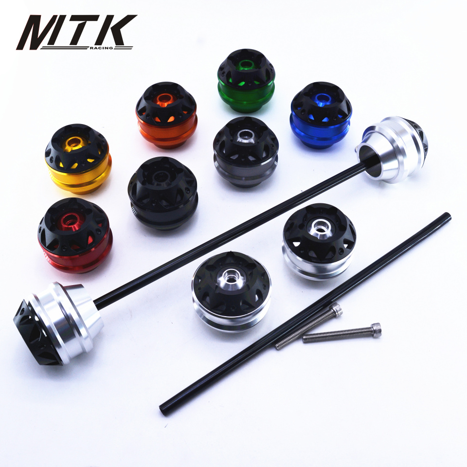 MTKRACING Free delivery for KAWASAKI ER6N 2012-2015 CNC Modified Motorcycle Front and rear wheels drop ball / shock absorber motorcycle accessories led front rear turn signal indicator light smoke for kawasaki z250 z250sl z300 z750 z750r er 6n er 6f