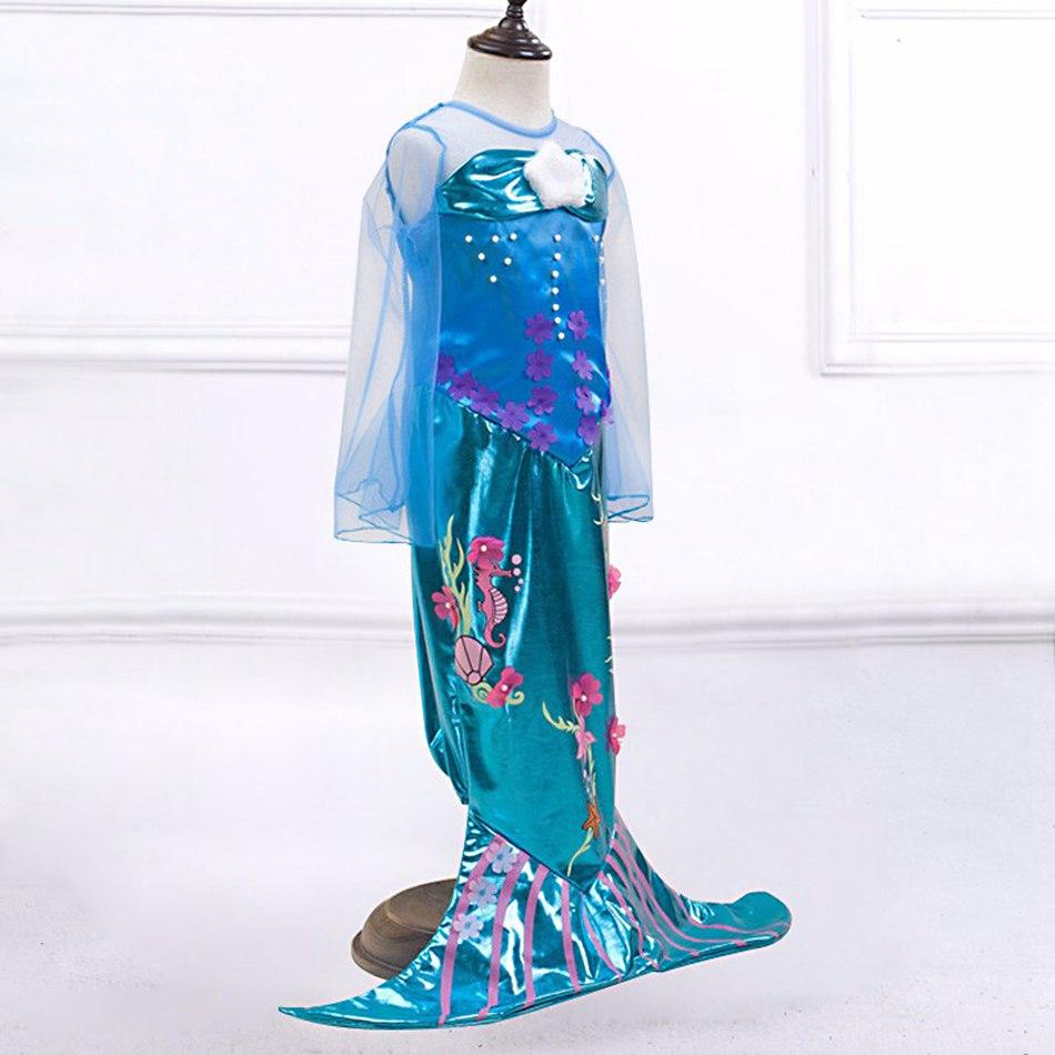 Girls Little Mermaid Summer Princess Dress (2)
