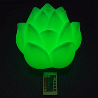 D90mm Glowing Rose Flower LED Table Lamps with Direct charge RGB LED lights for Coffee Bar Party Event free shipping 10pcs/lot