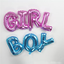 Hot new 2 pcs Hot new Siamese GIRL BOY letters aluminum foil balloons decorated children's birthday party globos