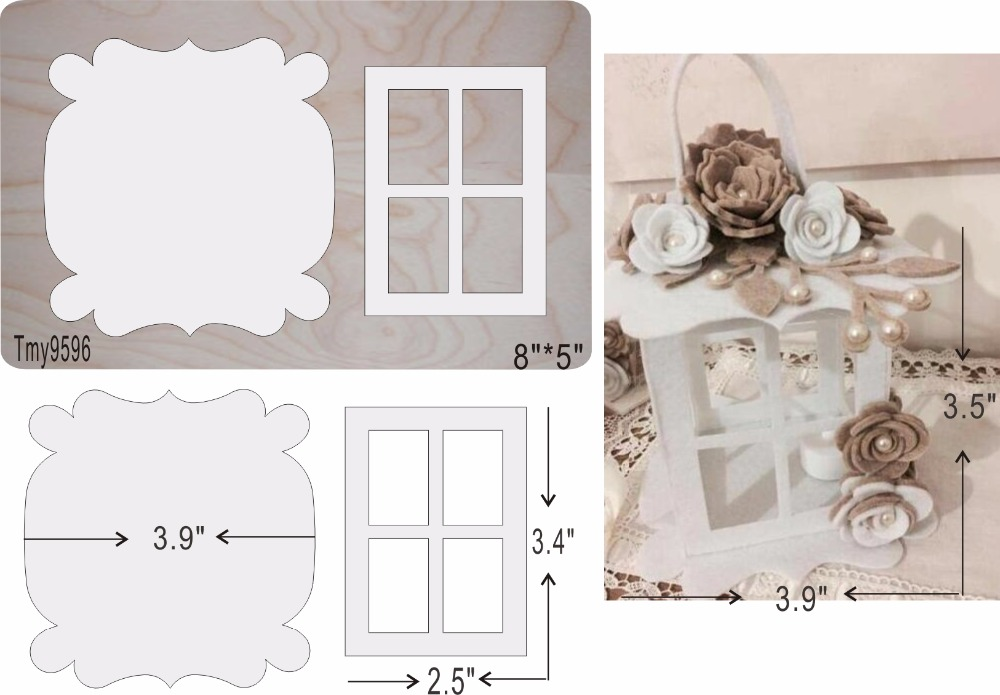 White lantern wooden die cutting tool die Scrapbook mold Tmy9596