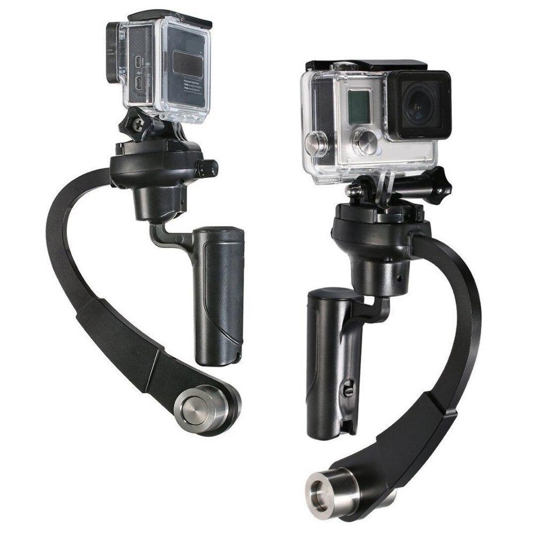 Nuevo 1 pc 3 colores C-Curva de vídeo estabilizador Mini portátil de estabilizador de cámara de Steadicam del cardán para GoPro héroe 4/3 +/3/2/1