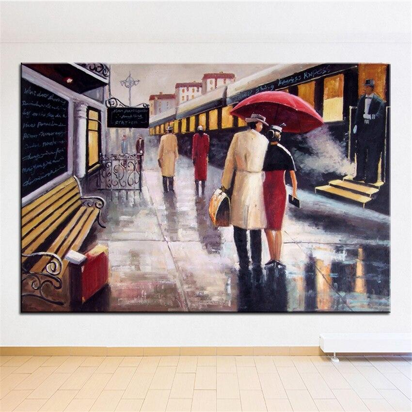 ᗐExtra Large Wall pintura de plataforma inicio Oficina Decoración ...