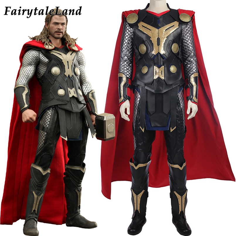 Thor Costume Adult The Avengers Superhero Halloween Fancy Dress