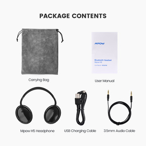 Image 5 - Origial Mpow H5 2nd Generation ANC Wireless Bluetooth Headphone Wired/Wireless With Mic Carrying Bag For PC iPhone Huawei Xiaomi