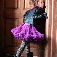 Freies Verschiffen Baby Mädchen Chiffon-Ballettröckchen pettiskirts Flauschigen Prinzessin Partei Röcke Balletttanzabnutzung Kinder Petticoat Kleidung