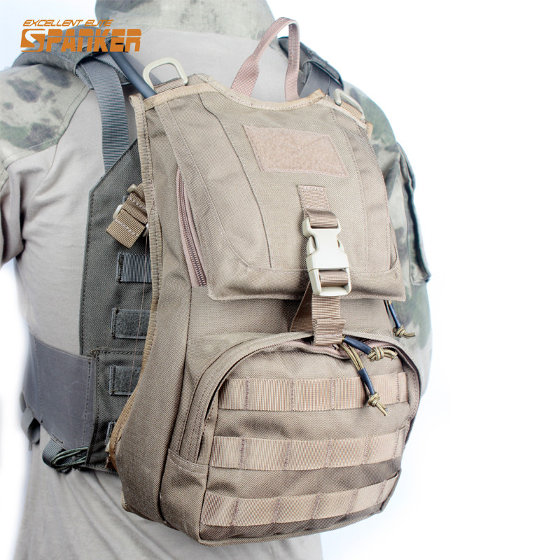 Spanker 1050D 3L Hydration Pouch Water Pack Tactical Molle Vest Accessories Backpack For Hunting Cycling Water Bladder Bag ultimate arms gear dark earth tan tactical scenario military hunting assault vest w right handed quick draw pistol holster and heavy duty mag pouch belt od olive drab green 2 5 liter 84 oz replacement hydration backpack water bladder reservoir in