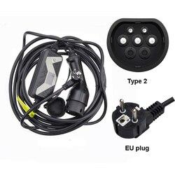 Veicolo elettrico EVSE Caricabatteria Da Auto per Nissan Leaf per Ford Tipo 2 EV Caricatore Spina Schuko chademo 20A IEC 62196 2