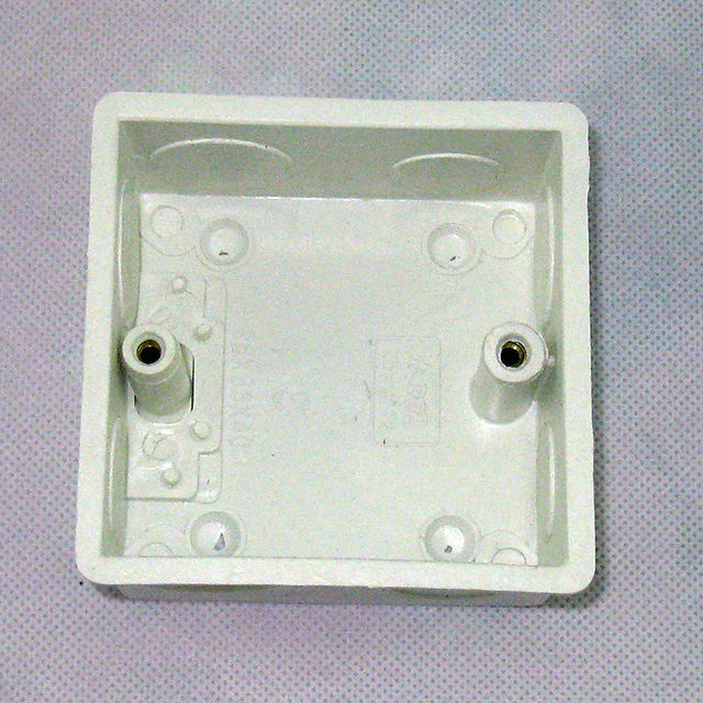 single gang wall switch box, type 86, in the wall socket box ...