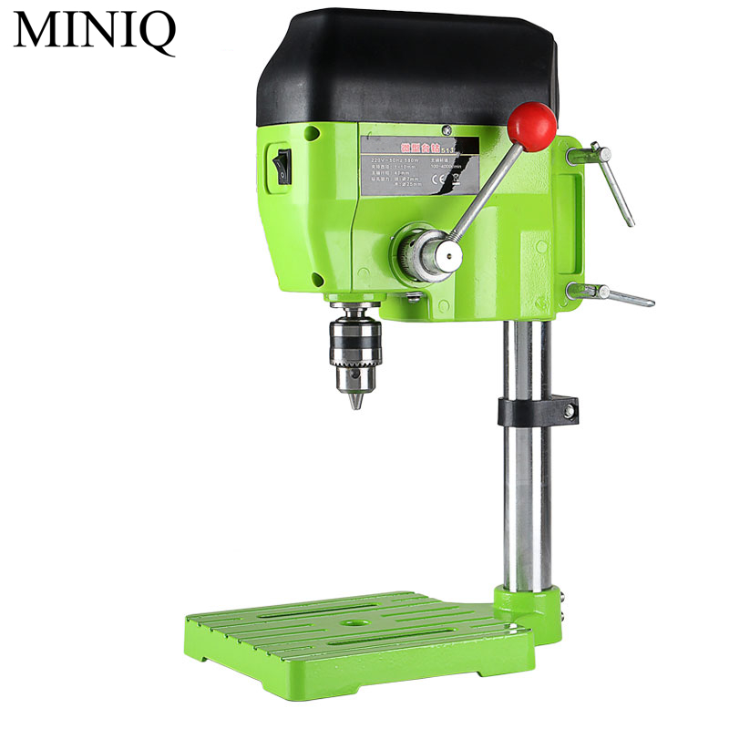 MINIQ 480W Drilling Machine High Variable Speed Bench Drill 11000RPM Drilling Chuck 1-10mm For DIY Wood Metal Electric Tools free shiping1pcs aju c10 10 100 10pcs ccmt060204 dia 10mm insertable bore drilling end mill cutting tools arbor for ccmt060204