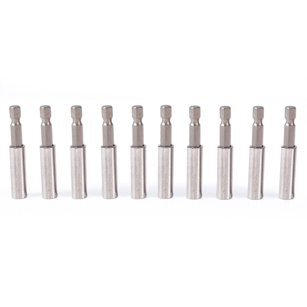 10Pcs/Set Screwdriver Bit Holder Magnetic Screwdriver Extension Socket Drill Bit Holder 1/4 Hex Power Tools flex flexible bendable extended magnetic shaft screwdriver bit holder 1 4 hex drive drill bit extension rod with keyless chuck