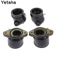 4Pcs Carburetor Manifold Interface Carburetter Intake Pipe Adapter Insulator Connectors For Yamaha XJR1200 95 99 XJR1300 98 06