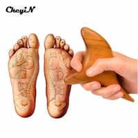 1 pçs madeira cânfora trigonométrico pé massagem corporal cone triângulo de madeira massagem vara gua sha placa acupuntura vara 0