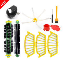 Front Wheel Brushes and Flat Filter for iRobot Roomba 500 Series 520 530 540 550 560 570 580 Vacuum Cleaner Replacement Parts