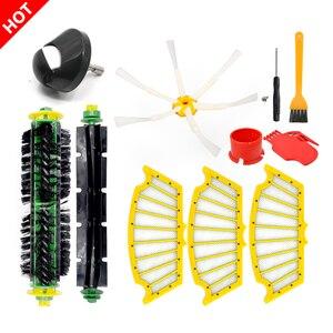 Image 1 - فرشاة أمامية وفلتر مسطح لـ iRobot Roomba 500 Series 520 530 540 550 560 570 580 قطع غيار المكنسة الكهربائية