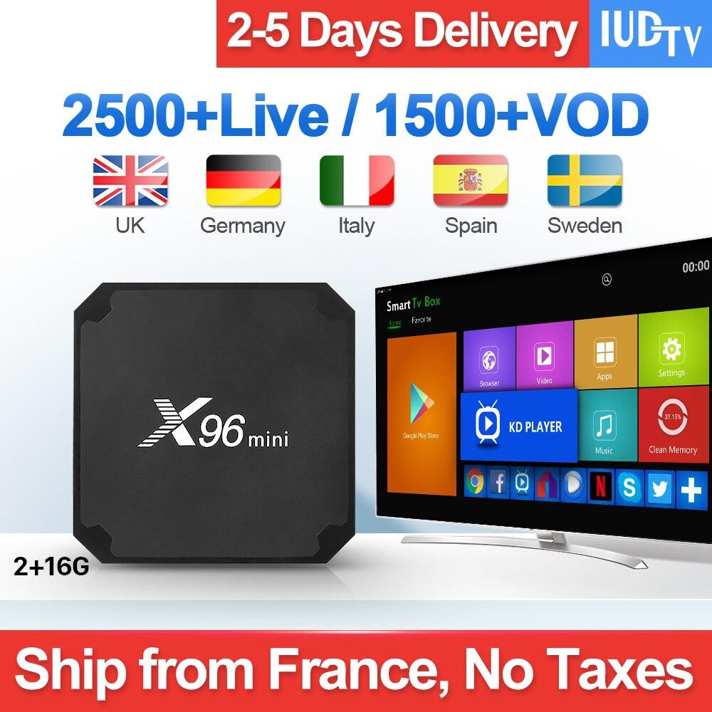IUDTV IPTV Subscription 1 Year For Iptv Italy UK Germany Europe Spanish Sweden 2GB 16GB Amlogic
