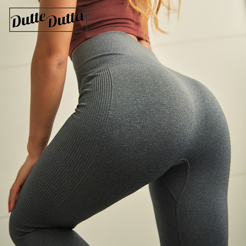 все цены на Duttedutta Seamless Tummy Control Yoga Pants Fitness Women High Waist Sport Leggings Stretchy Gym Leggings Running Tights Pants онлайн