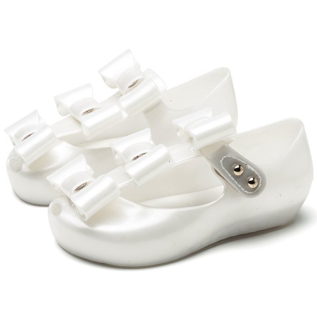 2018Mini Melissa Kid Beach Sandals 3 Pairs Bowknot Kids Shoes 2018 New Summer Mary Jane Sweet Children Cute Buckle(Toddler)