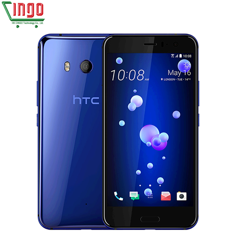 "Original HTC U11 4G LTE Mobile Phone 6GB RAM 128GB ROM Snapdragon 835 Octa Core 5.5"" IP67 Waterproof 2560x1440p Bar Phone"