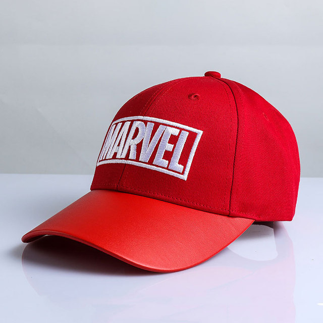 Women Men Cotton Marvel Embroidery Baseball Caps With Ribbon Summer Sun Hats Male Boys Adjustable Trucker Hat Snapback Hats