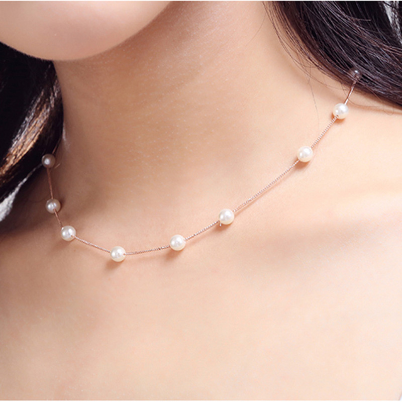 Hot Simple Styl Boho Pearl Crystal Long Sweater Chain Pendant Necklace for Women Accessaries Statement Fashion Jewlery Gift