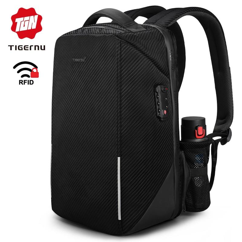 2019 Tigernu New Arrival Hign Quality 15 6 Anti Theft Men Laptop Backpacks TSA Lock No