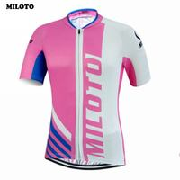 MILOTO Women S Bicycle Cycling Jerseys Sports Clothing Ropa Ciclismo Bike Short Sleeve Top Pink S