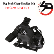 Action camera GoPro Accessories Dog Fetch Harness Chest Strap Shoulder Belt Mount For GoPro Hero 4/3+/3/ sport Camera