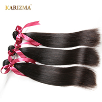 Karizma Indian Straight Hair Bundles 100% Human Hair Weave Non Remy Hair Extensions Double Weft Natural Color Hair Weaving
