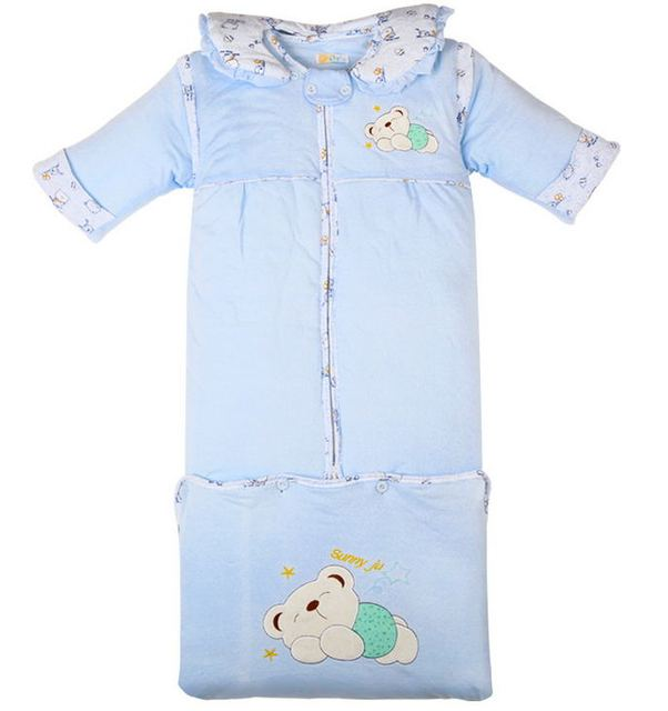 0-2 yearsBaby bear Dongkuan baby sleeping bags lengthened removable storage cylinder cover thick pajamas M No.