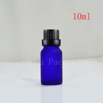 wholesale,20pcs 10ml Mini Small blue Glass Bottle with Orifice Reducer and Cap Small Essential Oil Bottle,Mini Glass Container