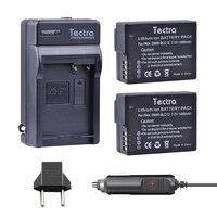 Tectra 2PCS DMW BLC12 BLC12 BATTERY AC Charger Car Plug For Panasonic Lumix FZ1000 FZ200 FZ300