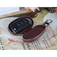 High Quality Cowhide Car Key Holder Wallets Crocodile Pattern Key chain Covers Zipper Key Case Unisex Key Pouch For Car Gifts dice pattern car key chain