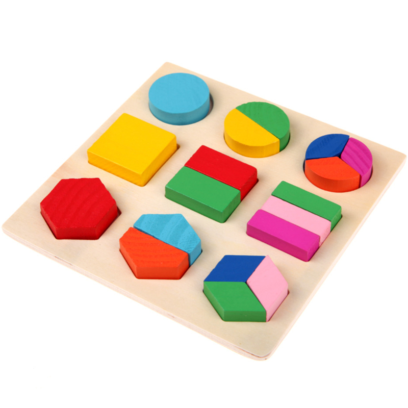 Baby Kids Wooden Board Puzzle Learning Educational Toy