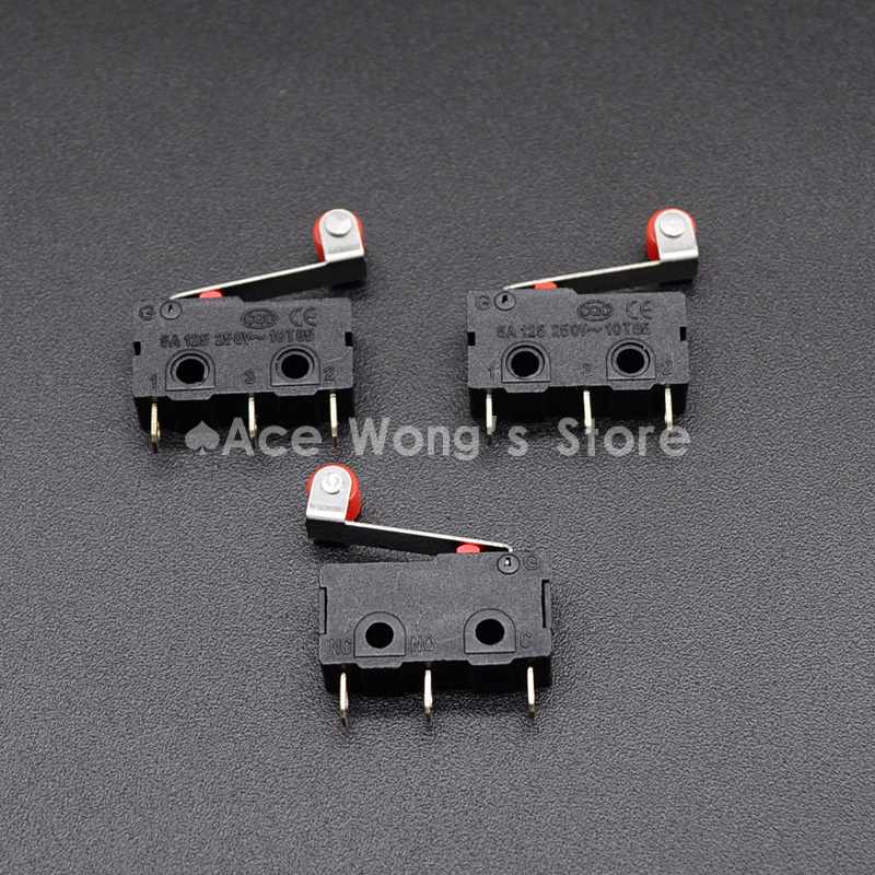 10 Pcs Mini Micro Limit Switch Roller Lever Arm SPDT Snap Action