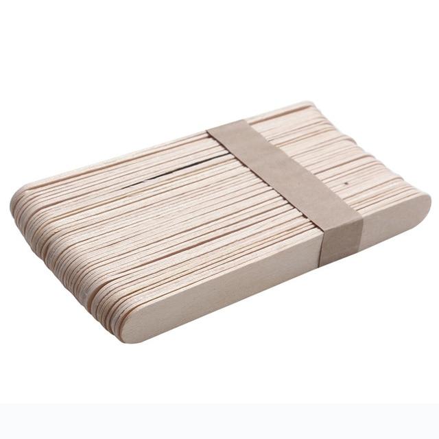 100pcs Waxing Wax Wooden Spatula Tongue Depressor Disposable Bamboo Sticks 15CM(6 Inch) Waxing Craft Stick Hair Remover Tools