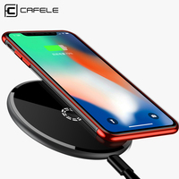 CAFELE Qi Wireless Charger For IPhone X 8 Plus Samsung S8 S7 S6 Edge Universal 9W