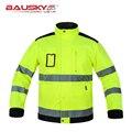 Высокое качество Мужчины открытый спецодежда multi-карманы светоотражающие безопасности работы куртка строитель спецодежды бесплатная доставка