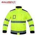 De alta calidad de Los Hombres al aire libre chaqueta de trabajo ropa de trabajo de múltiples bolsillos chaleco reflectante de seguridad de construcción constructor ropa de trabajo envío gratis