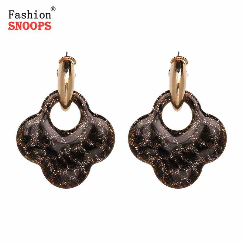 New Jewelery Leopard Drop Earring Zinc Alloy Large Brincos Ear Accessories Oorbellen Big Earrings ...