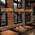 Чердак пеньковая веревка гостиная подвесной светильник креативный винтажный бар ресторан кафе украшение светильники Бесплатная доставка