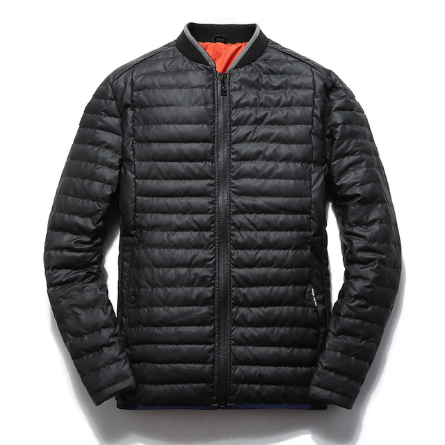 Повседневная Стенд Воротник Slim Fit Куртка Мужская Зимнее Пальто Водонепроницаемый Утка Вниз мягкой Одеяло D' Мэб Куртка Hommes