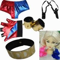 Harley Quinn Costumi di Halloween Cosplay Multi-accessori Da Polso + belt + bicchierini + guanti + parrucche