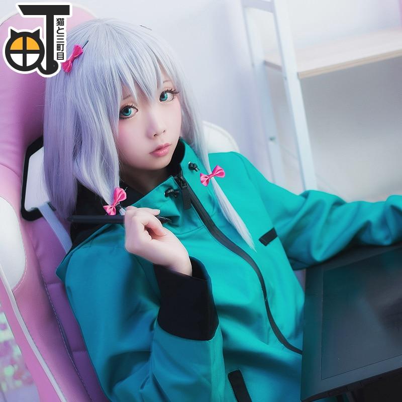 Hot Selling Anime Fogs of Spring Rarn Green Hoddie Full Set Dress Cos Erlo Manga Teacher Costume