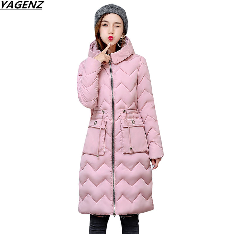 Women Fashion Winter Jackets New Hooded Warm Parkas Cotton-padded Jacket Long Coat Plus Size M-3XL Female Basic Coats YAGENZ 659 гном