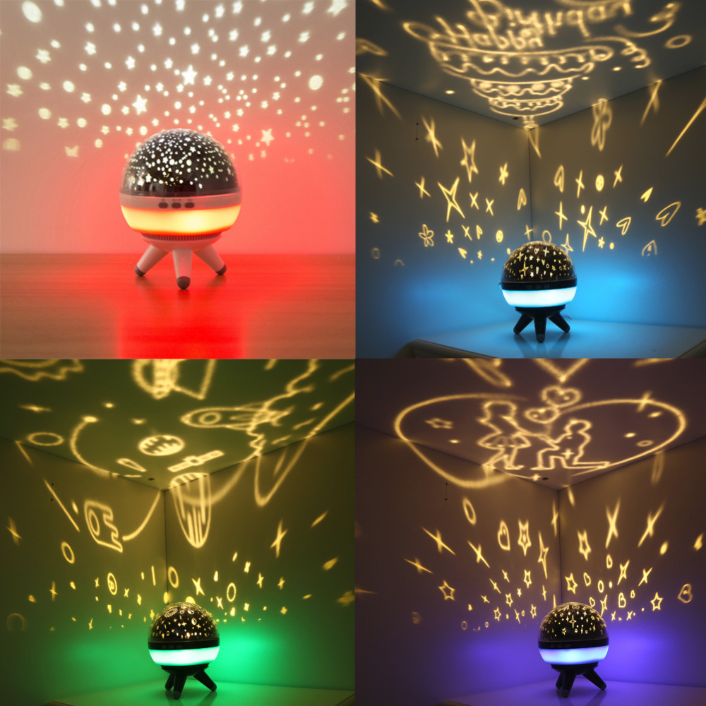 Jiaderui Newest Starry Sky LED Night Light Projector for Baby Kids Luminaria Novelty Table Lamps USB Illusion Children Best Gift